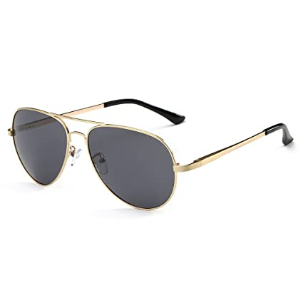 27148268d55 Simvey Metal Frame Full Mirrored Driving Polarized Aviator Sunglasses 100%  UV protection 60mm