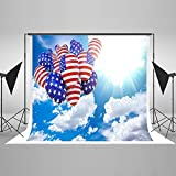 Maijoeyy 7ftx5ft Independence Day Photography Backgrounds America Flag Balloon Backdrop for Photo Booth 290237471