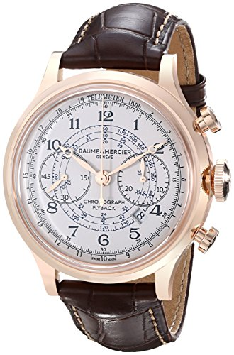 Baume-Mercier-Mens-A10007-Capeland-Analog-Display-Swiss-Automatic-Brown-Watch