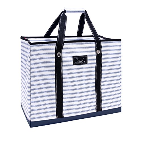 Girl Large Tote - SCOUT 3 Girls Bag, Extra Large Water Resistant, Tote Bag, For the Beach, Pool and Everyday Use, Zips Closed, Blue Book