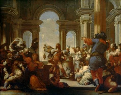 [High Quality Polyster Canvas ,the Amazing Art Decorative Canvas Prints Of Oil Painting 'Sebastiano Mazzoni,The Sacrifice Of Jephthah's Daughter,1655-1660', 20x26 Inch / 51x65 Cm Is Best For Home Office Decor And Home Gallery Art And] (Starter Dance Costumes For Sale)