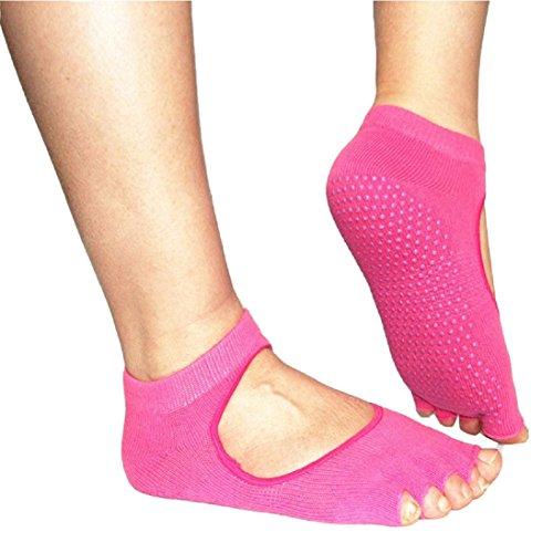 Yoga Socks CreazyDog (TM) 5 Toe Exercise Yoga Gym Non Slip Massage Toe Socks With Full Grip