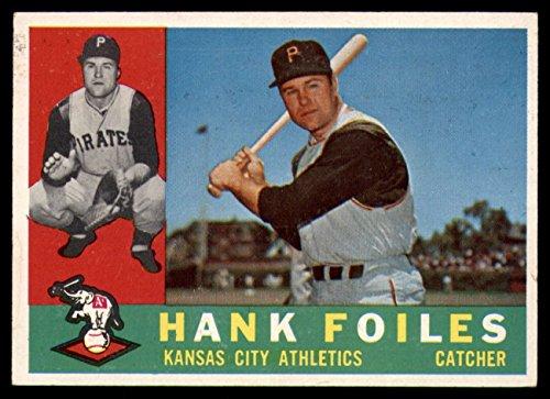 (Baseball MLB 1960 Topps #77 Hank Foiles EX/NM Athletics)