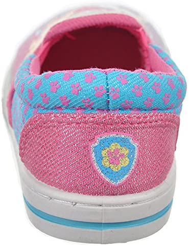 8 Toddler M, Multicolor Paw Patrol Girls Slip-On Canvas Sneaker