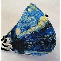 MEXI-K9 Cubrebocas lavable 4 capas Van Gogh Noche Estellada