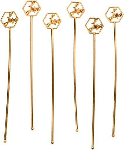 Christmas Party Cocktail Stirrers Drink Sticks Plastic Swizzle Sticks Pack of 6