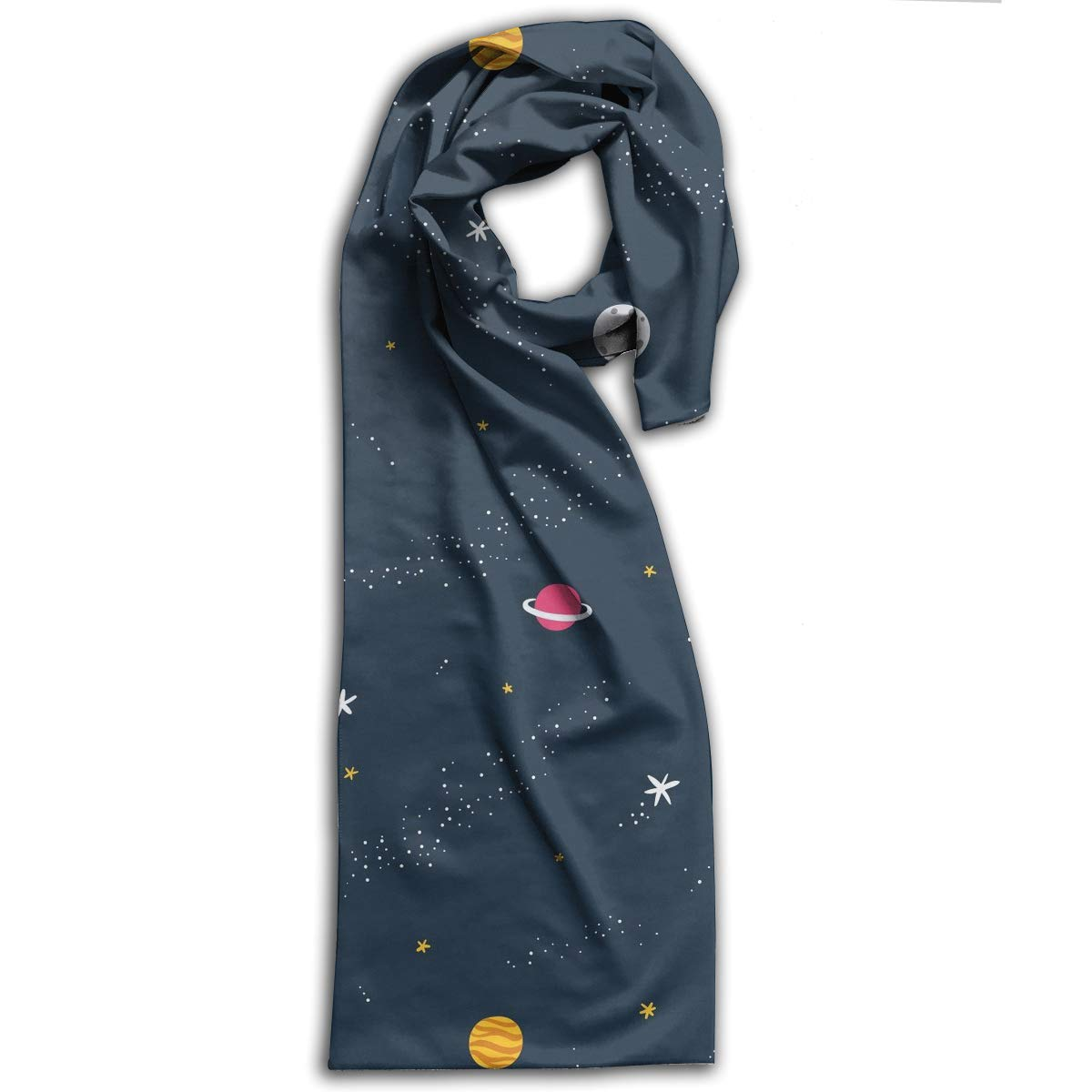 TDynasty Universe Cosmic Planet Warm Shawls Scarves Printing Comfortable Scarf Shawl Winter Scarf Warm Soft Multi-Purpose for Adult Women Gifts