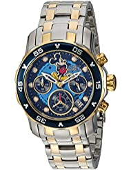 Invicta Womens Disney Limited Edition Quartz Stainless Steel Casual Watch, Color:Two Tone (Model: 24133)