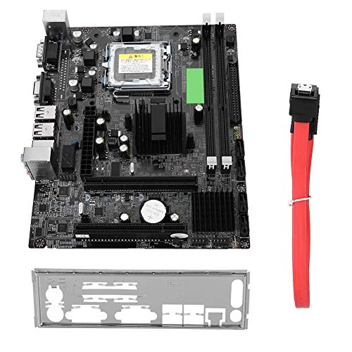 Wendry Desktop Computer Motherboard LGA 775,USB 2.0 SATA Mainboard for Intel G41,Integrated Graphics, Sound Card and Network Card,Support IDE Port Easy to Install