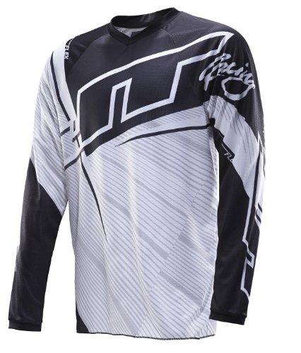 JT Racing USA Youth Flex MX Men's Motocross Dirt Bike Jersey (Black/White, X-Large) from JT Racing USA
