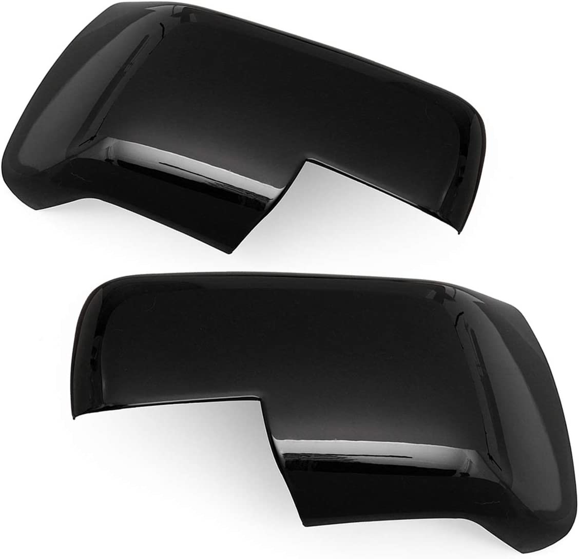 PeroFors Pair Gloss Black Car Wing Side Mirror Cover For Land Rover Discovery 3 Freelander 2 Range Rover Sport