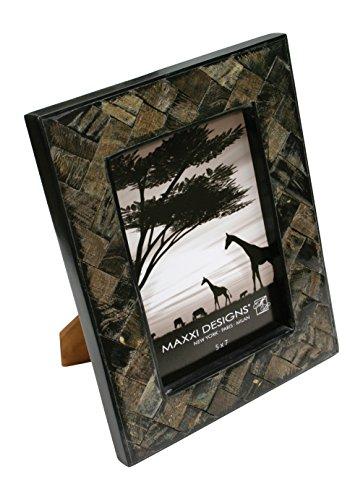 Maxxi Designs Safari Natural Horn Photo Frame, 5