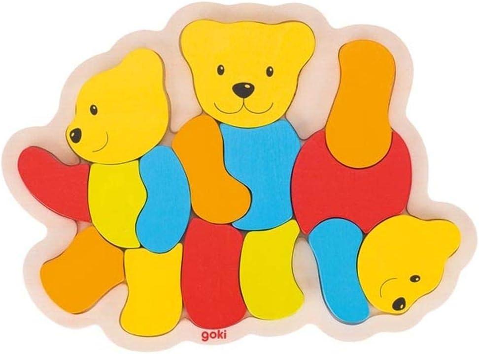 Goki- Puzzles de Madera, Multicolor (1)