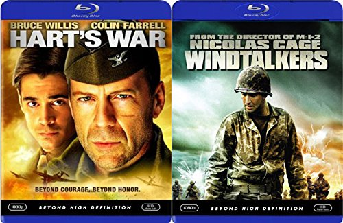 Windtalkers + Hart's War Blu Ray 2 Pack War Movie Action Set