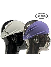 Headbands for Men and Women - Mens Sweatband & Sports Headband Moisture Wicking Workout Sweatbands for Running, Cross Training, Yoga and Bike Helmet Friendly