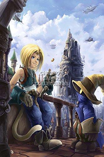 CGC Huge Poster - Final Fantasy IX Zidane and Vivi PS1 PS2 P