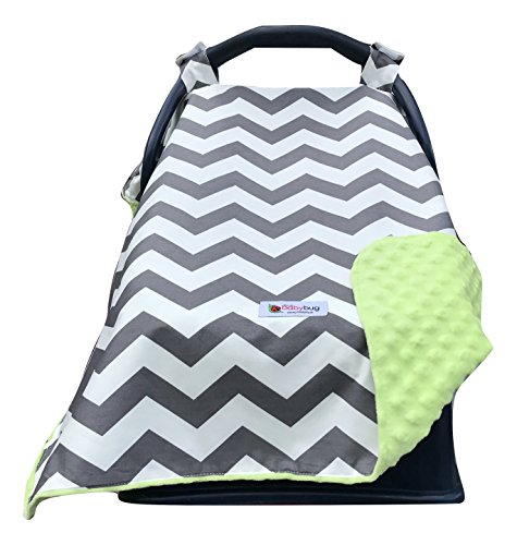   Doubles as a Convenient Breastfeeding or Shopping Cart Cover   Car Seat Canopy Accessories are a Perfect Baby Shower Gift for Baby Girls and Boys! ()