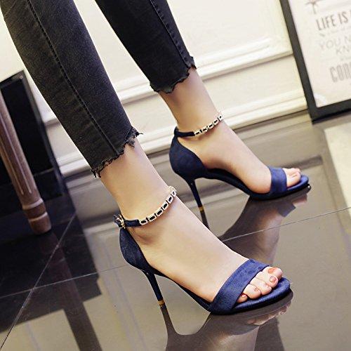 unie Talons Talon Miss Boucle SHOESHAOGE Fines D'Été Talon Mot Chaussures Femme Couleur Sandales Un Fx4CtvwqO