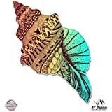 GT Graphics Seashell Conch Colorful - Vinyl Sticker Waterproof Decal