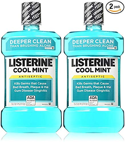 Listerine Antiseptic Mouthwash, Cool Mint - 33.8 oz - 2 pk (Mouthwash Fresh Mint)
