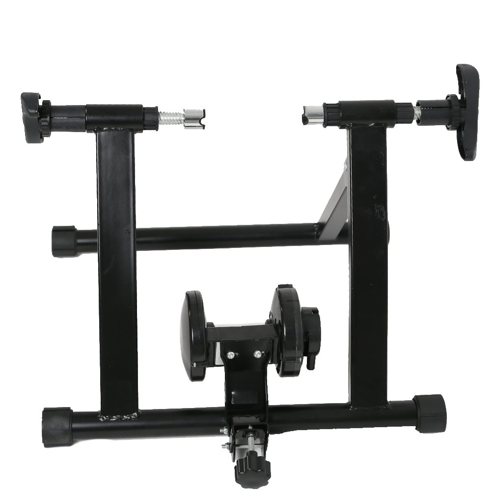 Karmas Product Exercise Resistance Bicycle Trainer Bike Magnetic Stand with Noise Reduction Wheel by Karmas Product (Image #1)