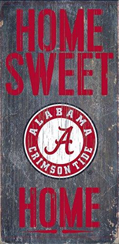 Tide Sign Alabama Crimson - Fan Creations Alabama Crimson Tide Wood Sign - Home Sweet Home 6