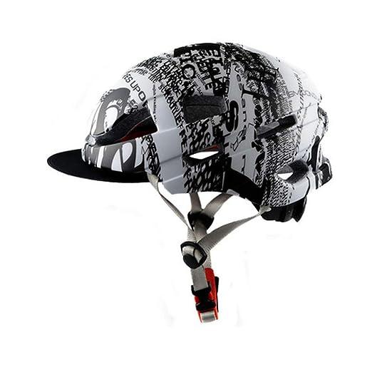 LXFDS Casco de Bicicleta de montaña, Adulto con Gorra, 檐 Casco de ...