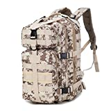 AIIreadar 35L Waterproof Military Tactical Assault Pack Backpack Army Molle Bag Desert Camouflage