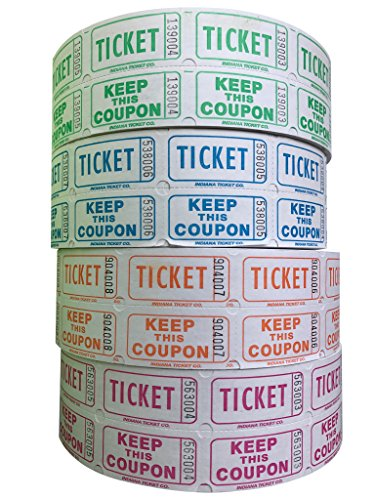white 50 50 raffle tickets - 9