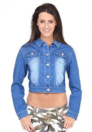 D. Cherri Women's Blue Faded Fitted Stretch Jean Jacket (US 14 / UK16) ()