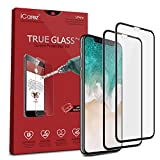 iCarez [Full Coverage Tempered Glass] Screen Protector for iPhone X (Case Friendly) Highest Quality Easy Install [2 Pack 0.3MM 9H 2.5D] with Lifetime Replacement Warranty - Retail Packaging