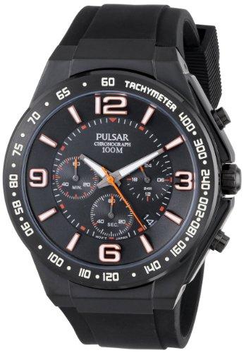 - Pulsar Men's PT3403 Analog Display Japanese Quartz Black Watch