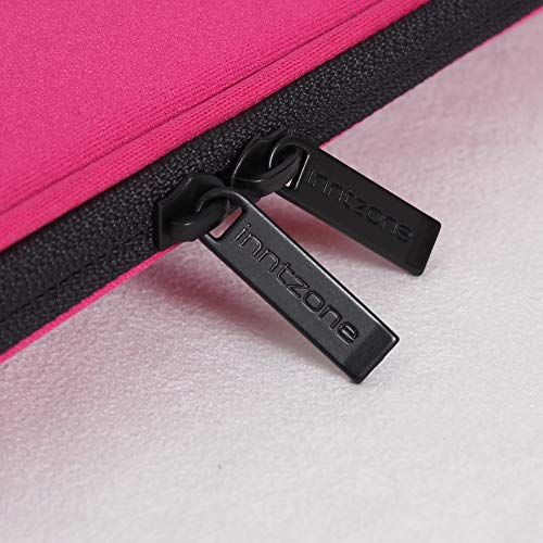 INNTZONE 15-15.6 Inch Foldable Laptop Sleeve case Bag Pouch Cover Notebook Carrying Flip Case - Pink