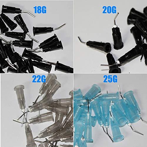 Portal Cool 100 PCS/lote, puntas de puntas de aguja dobladas, suministro de líquido, puntas de lavado, material dental, se...