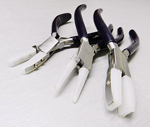 NYLON JAW PLIERS HD 3 SET JEWELRY CRAFT BEAD WIRE WORKING BENDING FORMING TOOLS - Nylon Jig