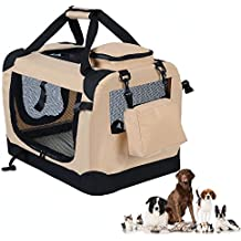 "WOLTU Folding Pet Carrier Soft Dog Crate Pet Home for Indoor/Outdoor Use, Beige, 32"", PC05bgeS4"