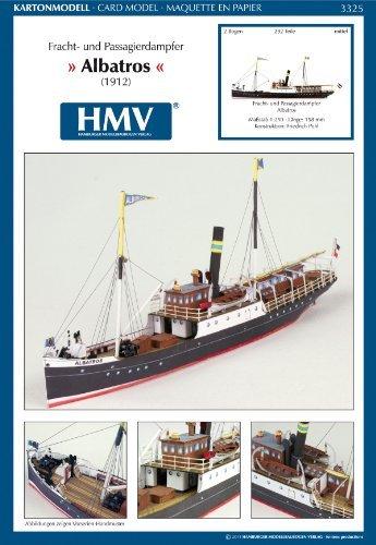 HMV 3325 Papermodel Freight and Passenger Steamer Albatros - Passenger Boat