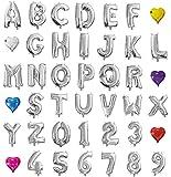 HOPIC 組み合わせ 自由 バルーン 風船 飾り付け イベント 装飾 [ アルファベット ] ( シルバー:U )
