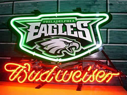 GreeneerG New Philadelphia Eagles Budweiser Beer Light Lamp Neon Sign 14