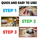 Tea Infusers TEA BUDDY's Set of 5 Silicone Loose Leaf Tea Infusers | FDA Approved | Food Grade Silicone | Tea Strainer, Steeper, Filter, Ball,Tea Bags - GREAT GIFT For All Tea Lovers!