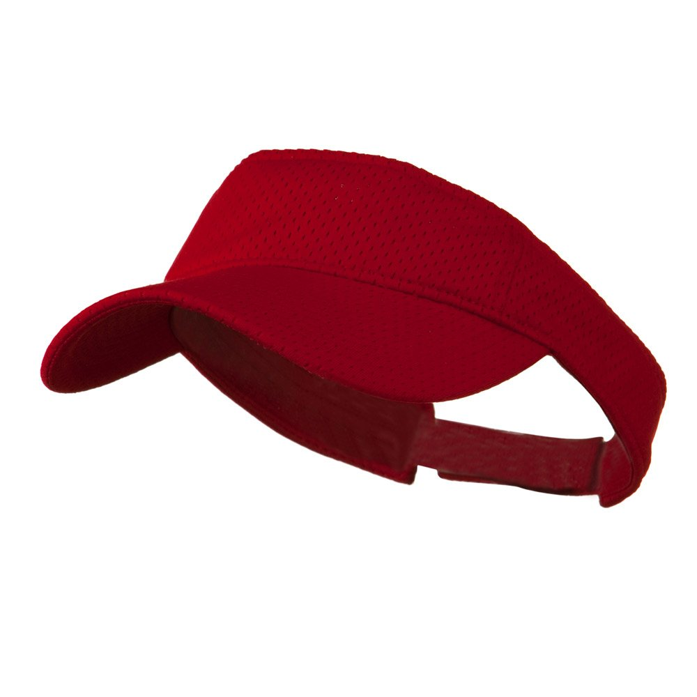Athletic Jersey Mesh Sportsvisor Red W38S47F