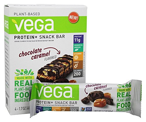 Vega Protein & Snack Bar, Chocolate Caramel, 4 Count (Vega Protein Bar compare prices)