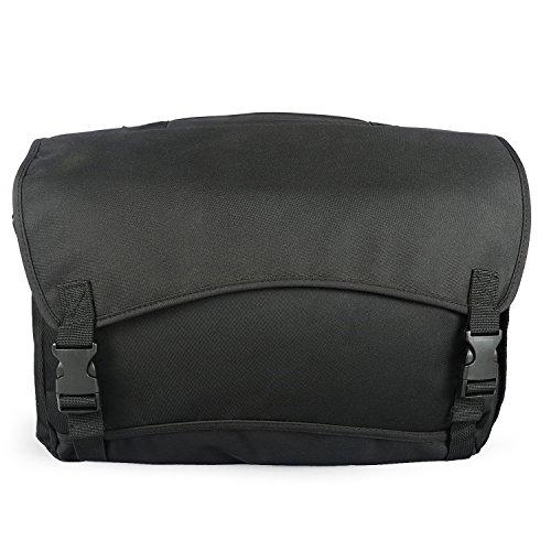 Waterproof Commute Messenger Bag Laptop Shoulder Handbag Backpack ,4 Uses (Black) (Large Tenba Bag Messenger)