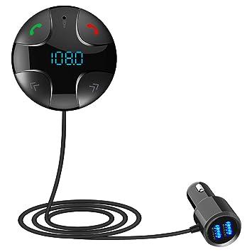 biaobiaoc - Transmisor de Manos Libres inalámbrico Bluetooth ...