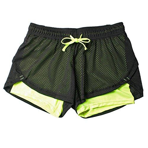 Da Ladia Da Yoga Abbigliamento Verde Di Estivi Pantaloncini Mesh Sportivo Traspiranti ECYC Donna In Da A01 Pantaloncini L'Esecuzione Atletico w81IqFAfx