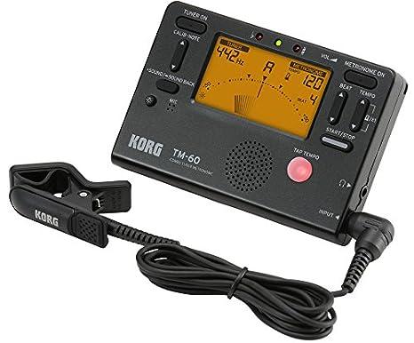 Korg TM60-BK - Sintonizador/metrónomo con micrófono de contacto: Amazon.es: Instrumentos musicales