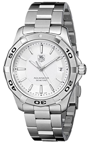 Aquaracer Silver Dial - TAG Heuer Men's WAP1111.BA0831 Aquaracer Silver Dial Watch