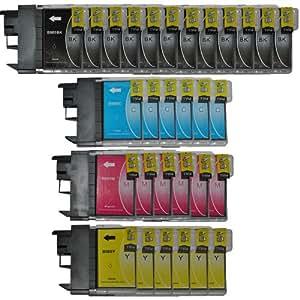 Tintetec ® - Paquete de 30 cartuchos XL para Brother LC985