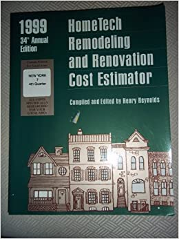 home tech remodeling and renovation cost estimator field manual