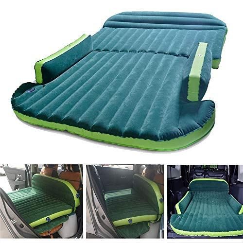 Air Beds SUV Car Flocking Inflatable Mattress 4/6 Split with Pump Back Seat Extended Changeable and Multifuncional for Travel Camping Outdoor Sports Camp ()